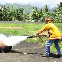 Temel yangın eğitimi fotoğrafı
